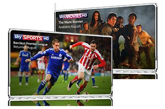 Sky Sports & Sky Movies in HD