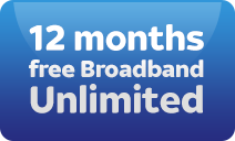 12 months free unlimited broadband