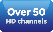 Over 50 HD channels